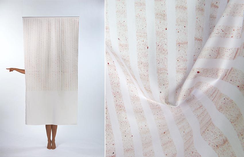 Unterberger-Hell Marble hand printed textile design Copenhagen