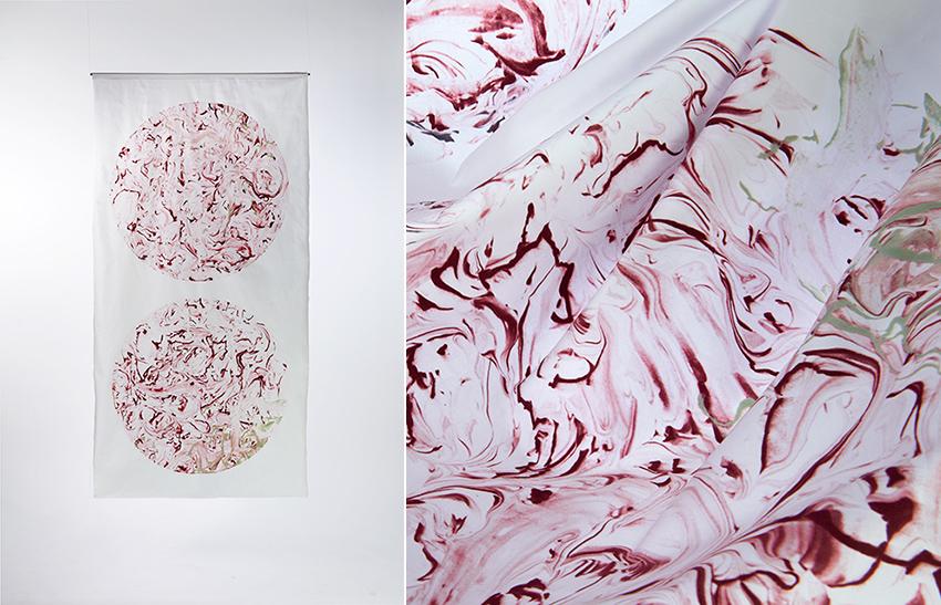 Onyx Marble Pakistan hand printed textile design Copenhagen