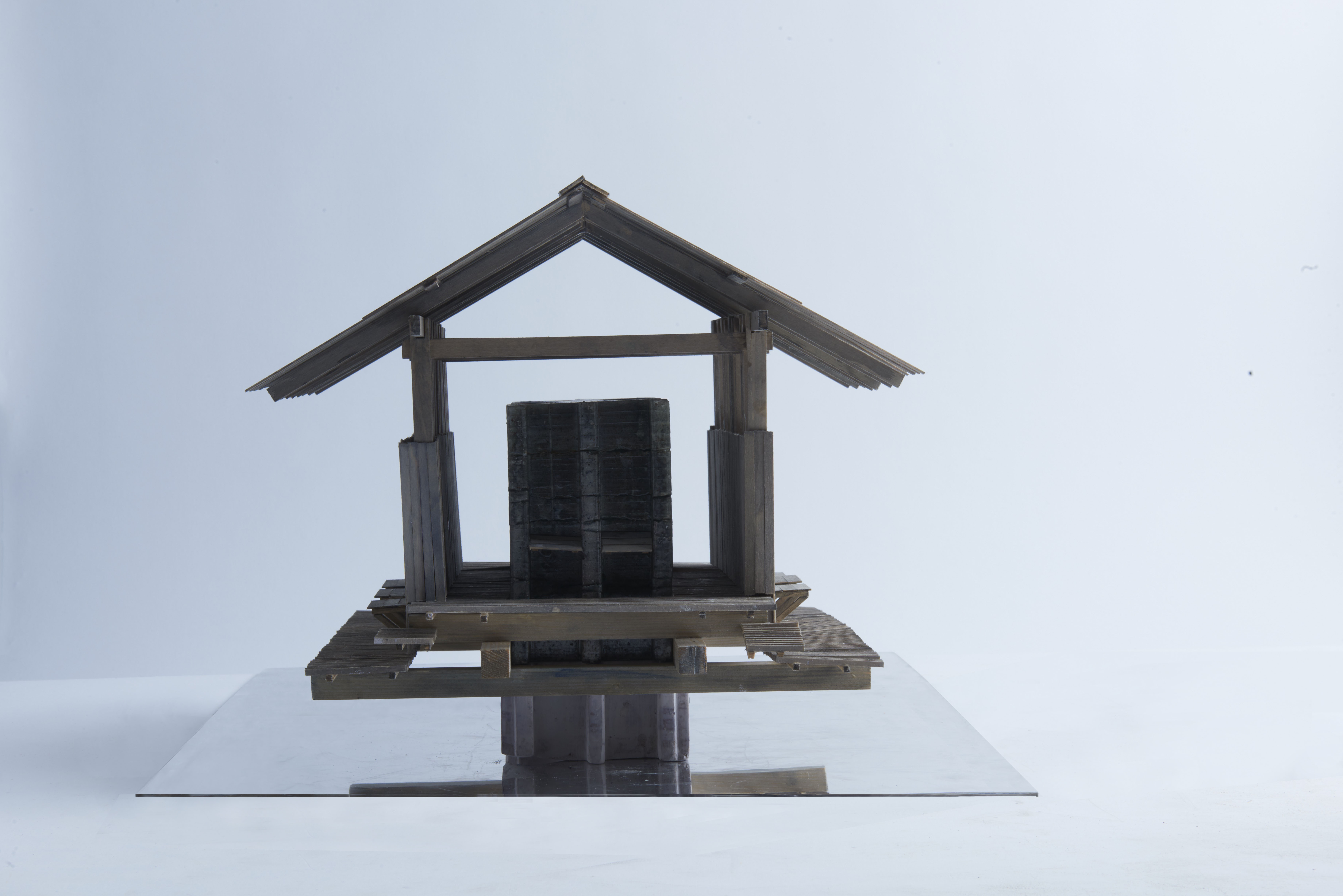 showerhouse arkitektur architecture kallbad winter bathhouse graduate thesis model