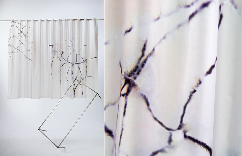 Paonazetto marble hand printed textile Copenhagen
