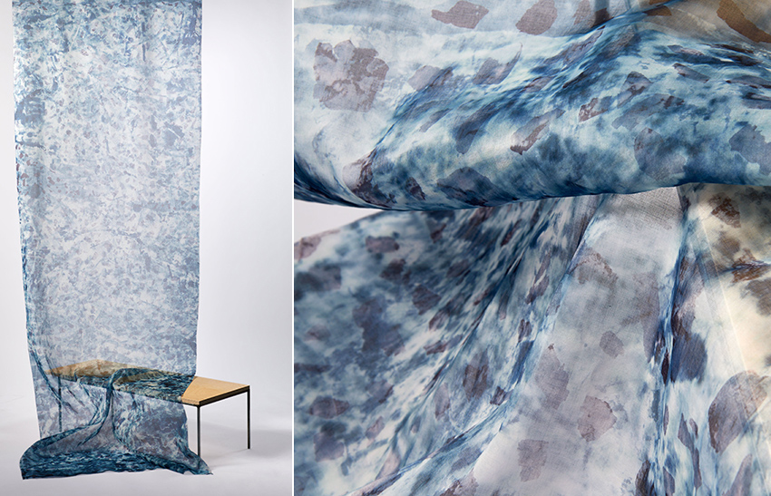 serpentine marble hand print screen printed textile design Copenhagen