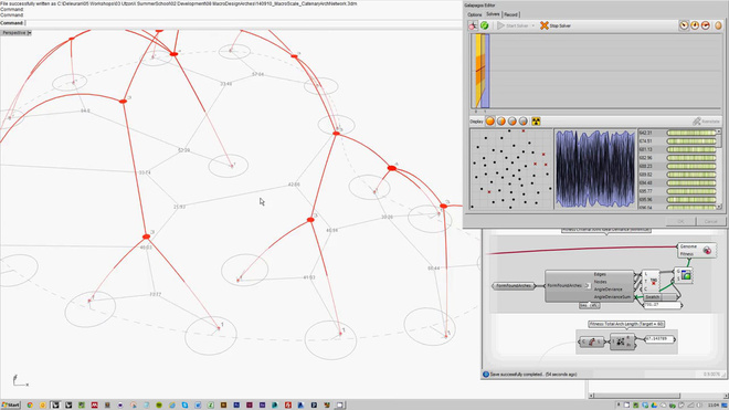 UtzonX 2014 - Catenary Arch Network (Joint Ideal Deviance Optimization)