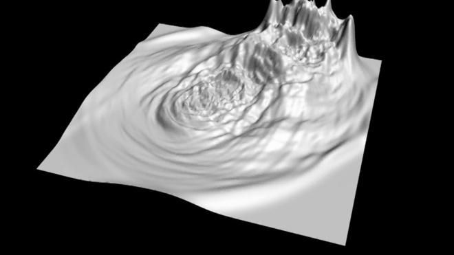 Eksperiment omhandlende samspillet mellem digital simulering af væske og flydende porcelæn