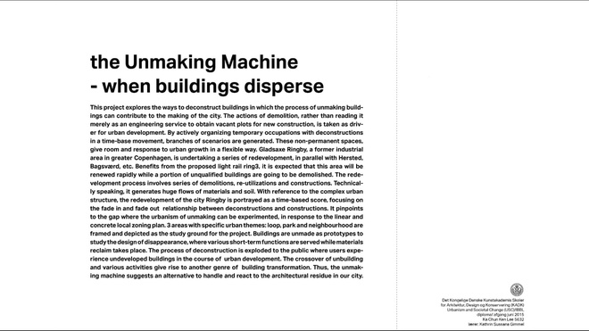 the unmaking machine: models and sketches