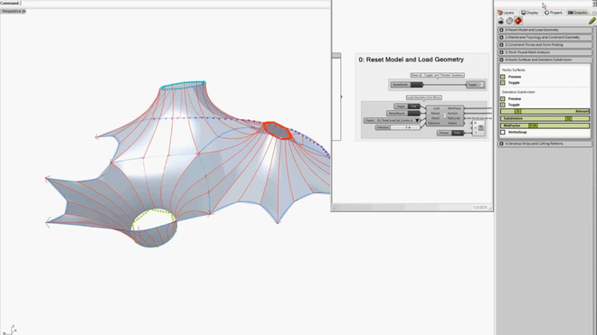 AAC Workshop - Membrane Form Finding and Geodesic Patterning Demo II