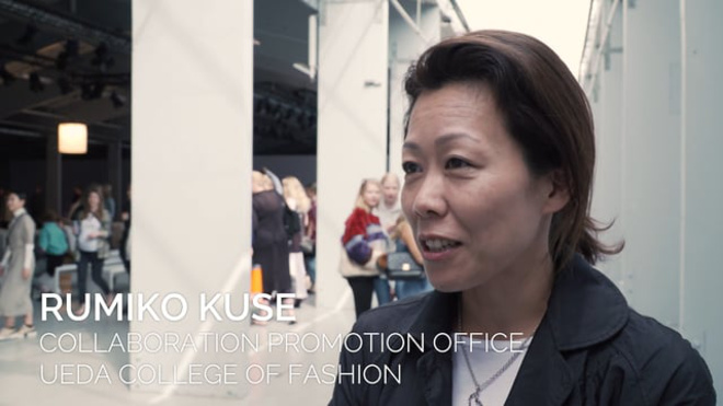 Rumiko Kuse, Collaboration Promotion Office, UEDA College of Fashion udtaler sig om KADK's Future of Fashion-show