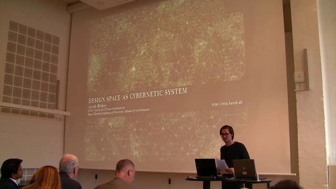 Jacob Riiber Nielsen PhD presentation at the Cybernetics, Architecture & Robotics seminar, Copenhagen 2011